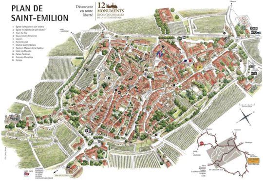 Plan de Saint-Emilion