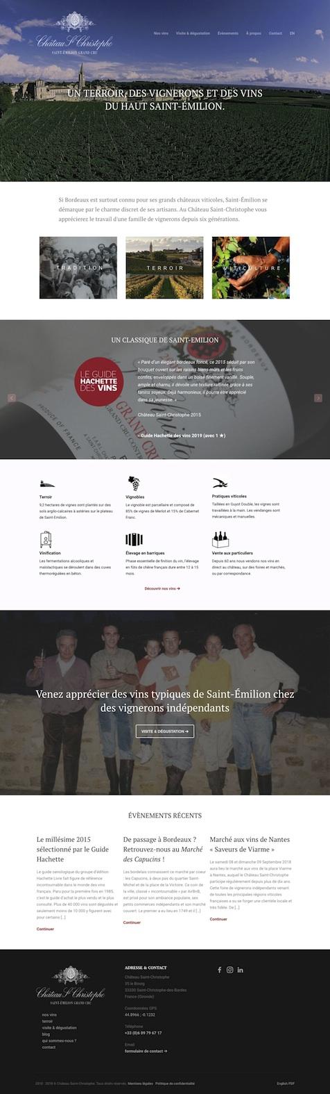 site internet chateau saint christophe saint emilion