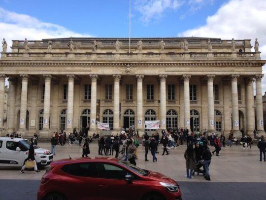 occupation opéra national de Bordeaux