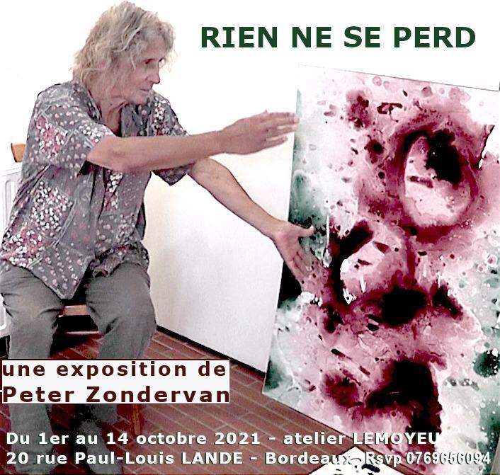 Expo Peter Zondervan à Bordeaux